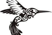 colibries,gallos y otras aves