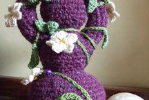 knitted crocheted felted goddess