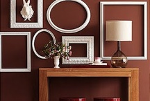 The Great Frame up / The art of hanging wall decor.  It can be the most decorative way to express personal style and bring color into a room.  Examples of how the wall decor can be the focal point and how to hang collections. / by Mary Anne Wallman