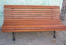 BANCOS DE JARDIN / Sacando y entrando sillas?  Ponga un BANCO en su jardín, están en CARRARA http://www.carrarademoliciones.com.uy/ 22 03 52 17 / 22 00 68 11