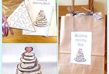 Wedding Activity Bags / Personalised and non personalised activity bags