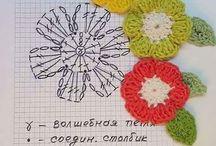 かぎ編み 花 葉