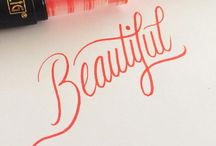 Typography / Beautiful penmanship...