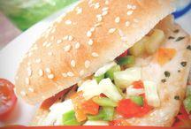Receta de Hamburguesa de pollo con salsa de verduras