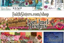 FS Digital Scrapbook / New Releases from FaithSisters.com/store Scrapbooking with digital paper and elements.