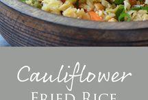 Recipes:  Cauliflower Rice