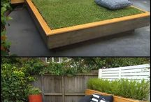 outdoor grass bed for pablo and diego