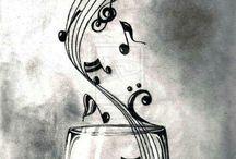 Ζωγραφική με μουσικές νότες