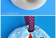 Håndverk for barn / Snømann