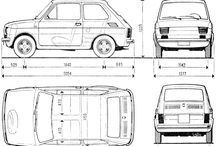 Fiat 126 poster folder cartoon