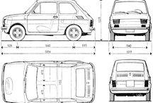 Fiat 126 poster folder cartoon