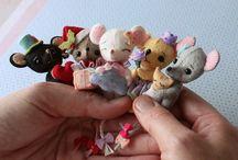animalzinhos de artesanato em miniatura