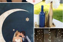Blue gold wed