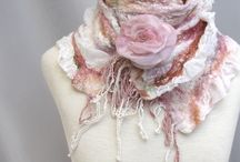 Валяние шарфы