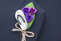 Wedding Boutonnieres / unique boutonnieres / by Marryl All Write