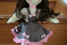 moje panenky / vlastní výroba jako dárek k narozeninám