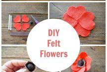 flores fieltro,crochet