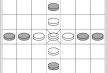 Starting Positions / Diagrams of the starting layouts for various types of hnefatafl game.