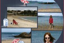Scrapbook pages - beach