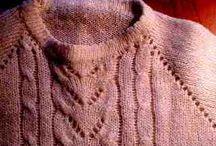 på strikkemaskin