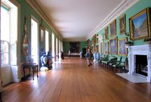 Long Galleries / These rooms, in opulent English country homes, were often used for strolling on days of inclement weather.