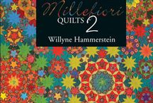 Millefiori Quilts by Willyne Hammerstein / You don't have to enjoy English Paper Piecing to make these exquisite designs! Print the shapes on fabric with Inklingo and sew with a running stitch.