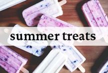 Summer Treats / Summer Treats like frozen yogurt and popsicles to enjoy