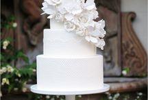 Elegant white cakes