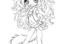 Art coloring kawaii anime cute