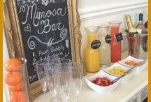 Mimosa bar / Bachelorette party bridal shower mimosa bar