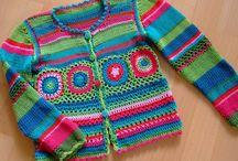 kötött-horgolt pulóver