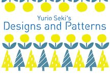 Yurio Seki's Designs and Patterns (セキユリヲのパターンを使ったデザイン) / The latest complehensive collection of design works by Yurio Seki, a Japanese Graphic Designer who draws warm, mellow, brightly colored designs.