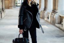 Black shearling jackets