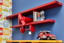 Airplane shelving