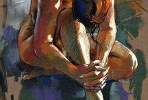 nus peints
