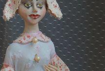 Купить Коломбина, авторская кукла