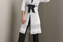 chalecos vestidos crochet