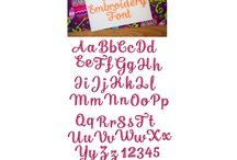 Embroidery Fonts Owned / Embroidery Fonts I own from fabulous digitizers