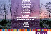 Winter top 10  / Overzicht Winter top 10 Mijn Keukentuintje