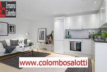 Divano per soggiorno con cucina a vista Lissone (Monza e Brianza) / Produzione su misura divani per soggiorni con cucina a vista