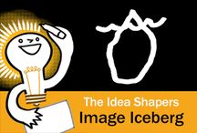 The Idea Shapers: The Image Iceberg / In her 2016 book The Idea Shapers, Brandy Agerbeck makes visual thinking attainable and enjoyable through a set of 24 Idea Shapers. The Image Iceberg addresses pictorial imagery within your drawings.