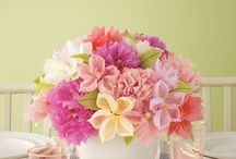 Tissue & Paper Flowers / creative ideas for parties, décor, gifts, etc