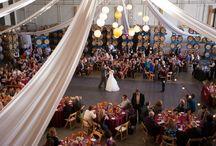 Rock Wall Weddings / Inside Hanger - Reception Set-up