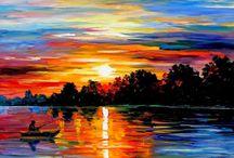 Pintura por do sol