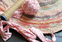 My rugs! / Handmade rag rugs and baskets from recycled textiles.