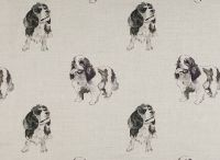 Kings Charles Spaniel / Fabric from www.nikki-szabo.co.uk.  Printed in England