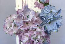 Wedding cake / Wedding cake and wafer paper flowers