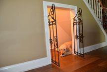 Dog kennel inside
