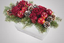 composizioni con fiori frutta
