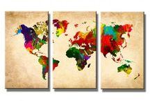 Cadeau Nadeem / Wereldkaart!